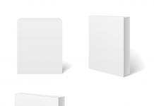 White blank cardboard package box